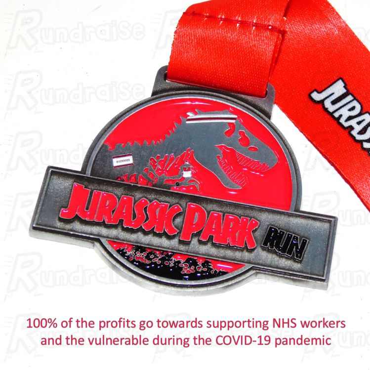 Jurassic Park Run - Virtual Running - Raising money for NHS healthcare workers in COVID-19