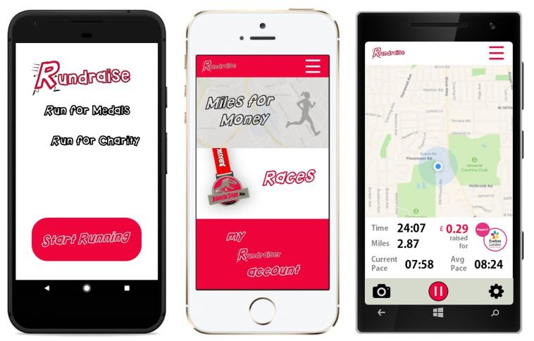 Rundraise Virtual Races Phone App
